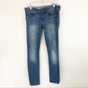 Gap 1969 Always Skinny Jeans Light Wash Distressed